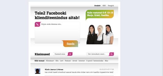 Tele2 Facebooki klienditeenindus
