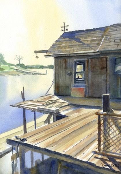 Pierce Island from Brewster's Dock