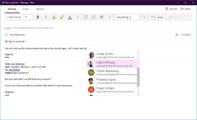 Updates to Windows 10 Mail and Calendar apps bring Focused Inbox