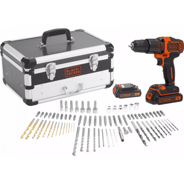 Black En Decker Klopboormachine De Black+decker Accu Schroef-/klopboormachine Set Bdc718as2f
