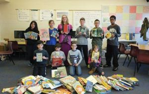 Spring students book drive