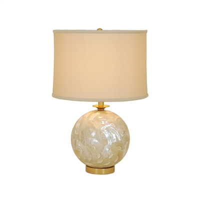 Troca Shell Inlay Table Lamp