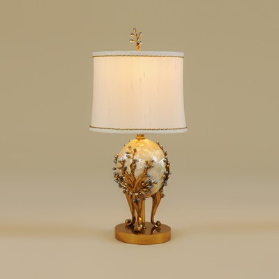 Golden Finished Brass Table Lamp