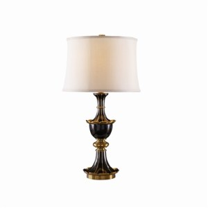 Black Waxstone Inlaid Table Lamp