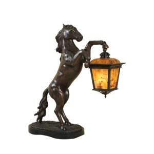 Craftsmen Bronze finished cast brass decorative Horse Lamp