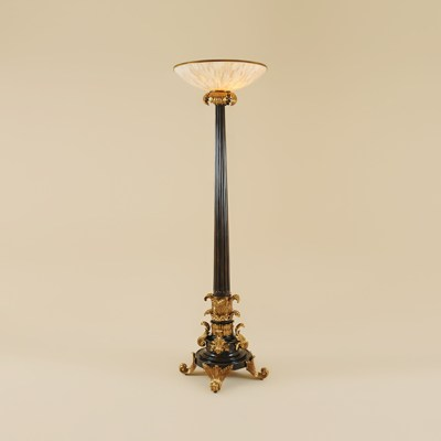 Black Vendome Torchere Floor Lamp
