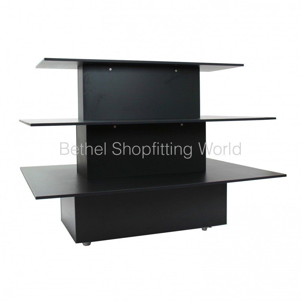 Retail Display Stands Australia 3 Tier Display Tables 1200mm Shop Fitting Depot