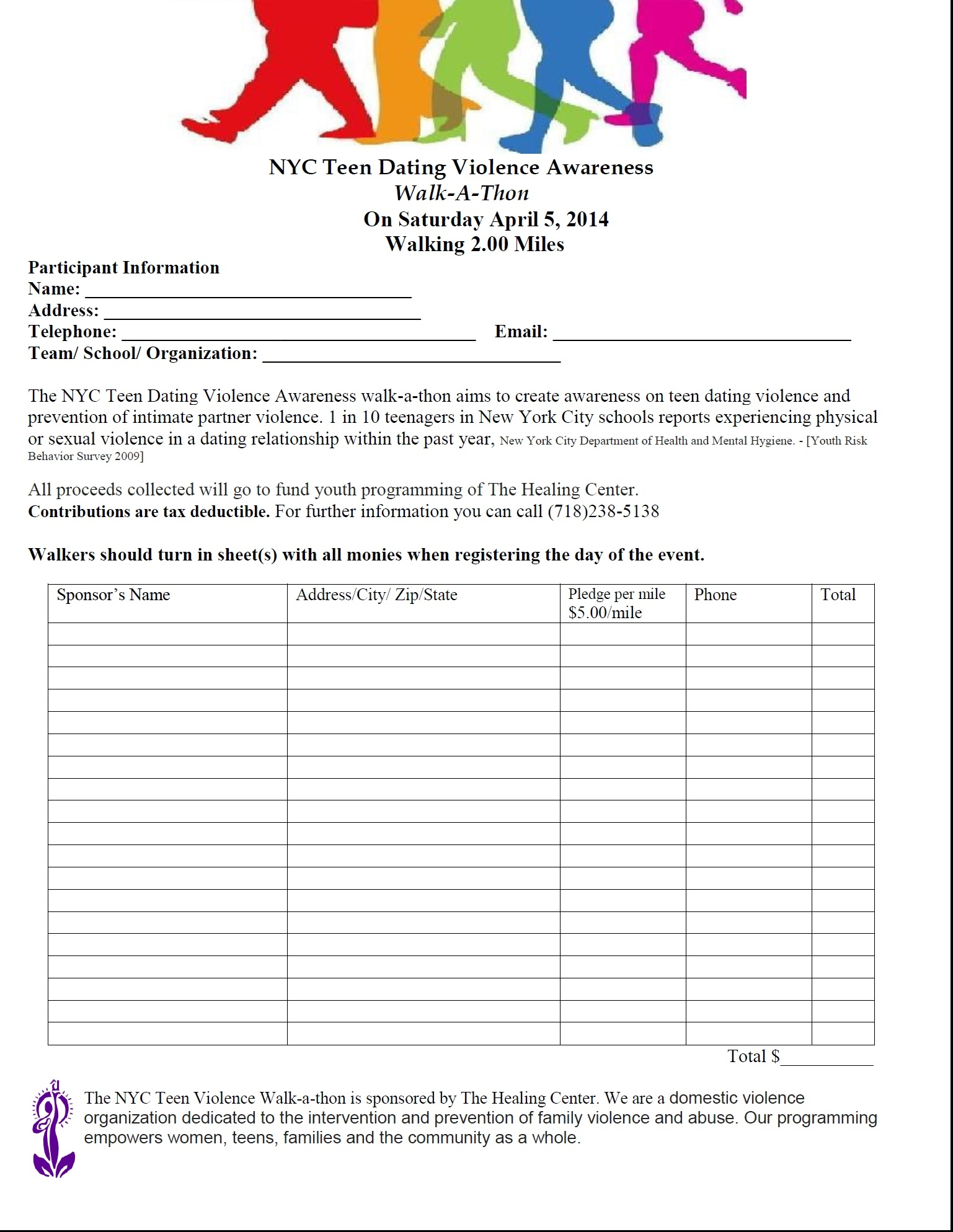 walk a thon template