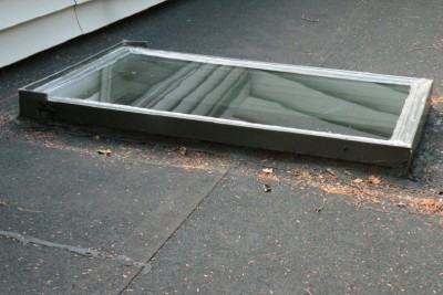 This is a skylight that is designed for shingled roofs.