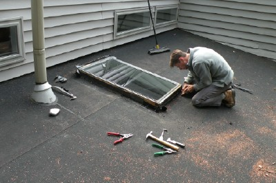 Take Time To Remove Old Skylight.