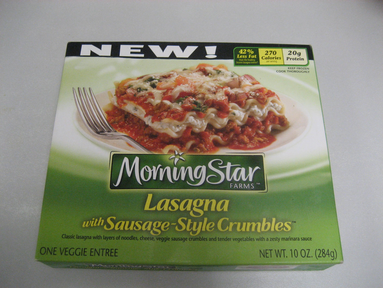Grab A Quickie Takeaway Morningstar Lasagna