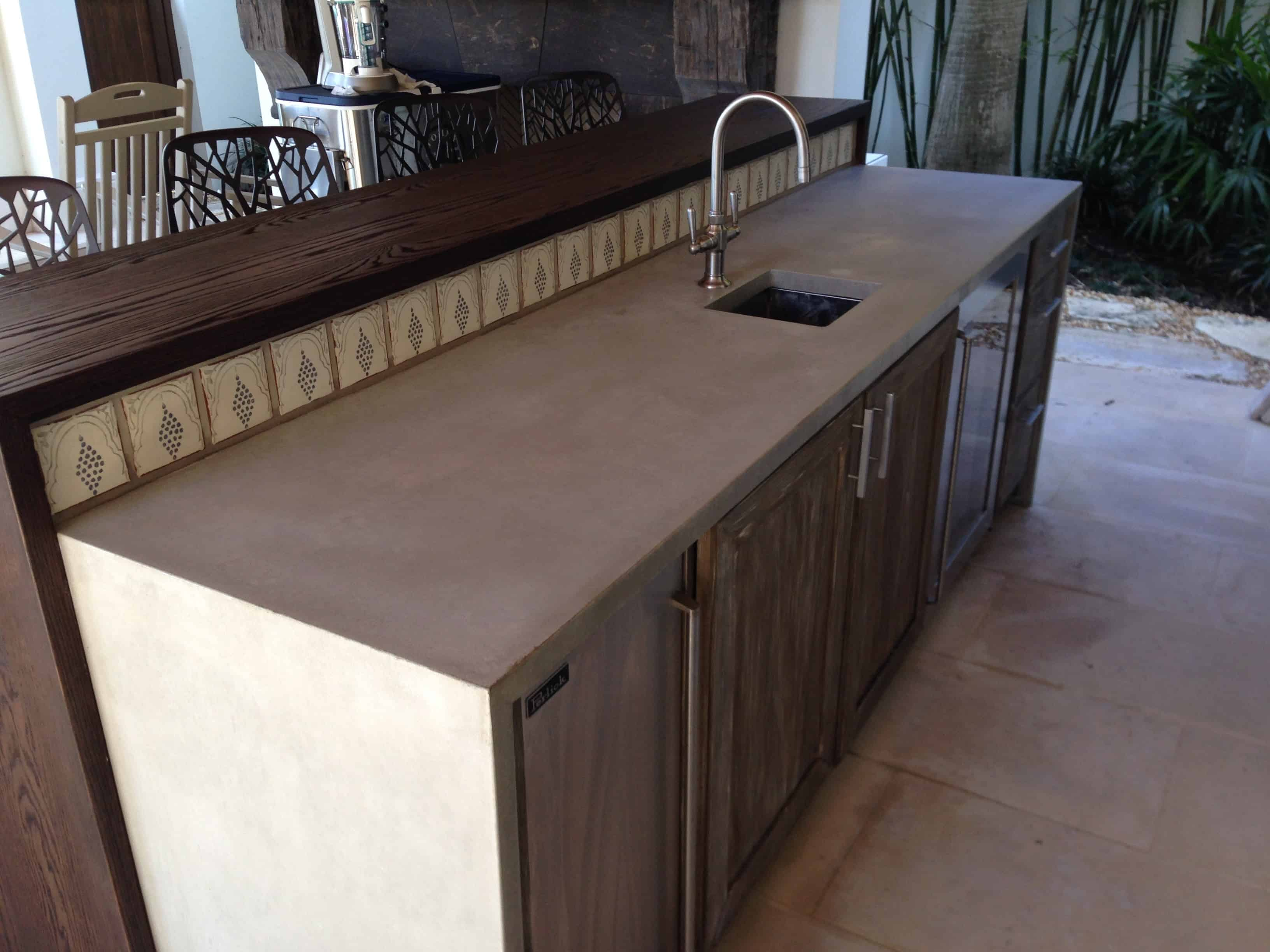 How Much For Concrete Countertops Concrete Countertop In Fort Lauderdale Fl Béton Studio