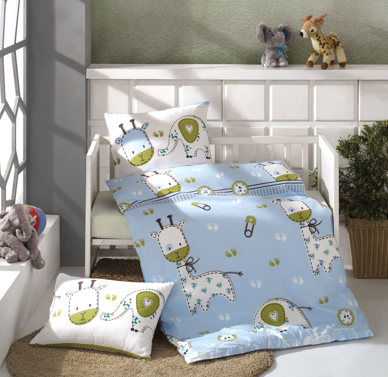 Kinder Bettwäsche Set Ca 100x135 Cm Renforcé Hellblau Curio Beties
