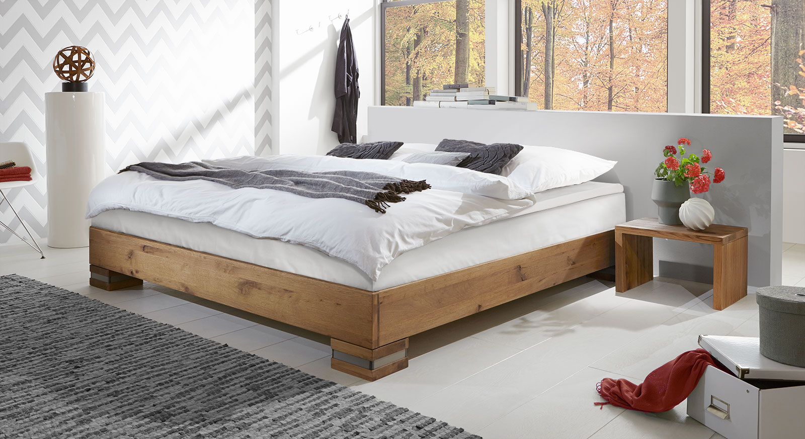 Boxspringliege Boxspringbett Aus Wildeiche In Futon Optik Mexiana