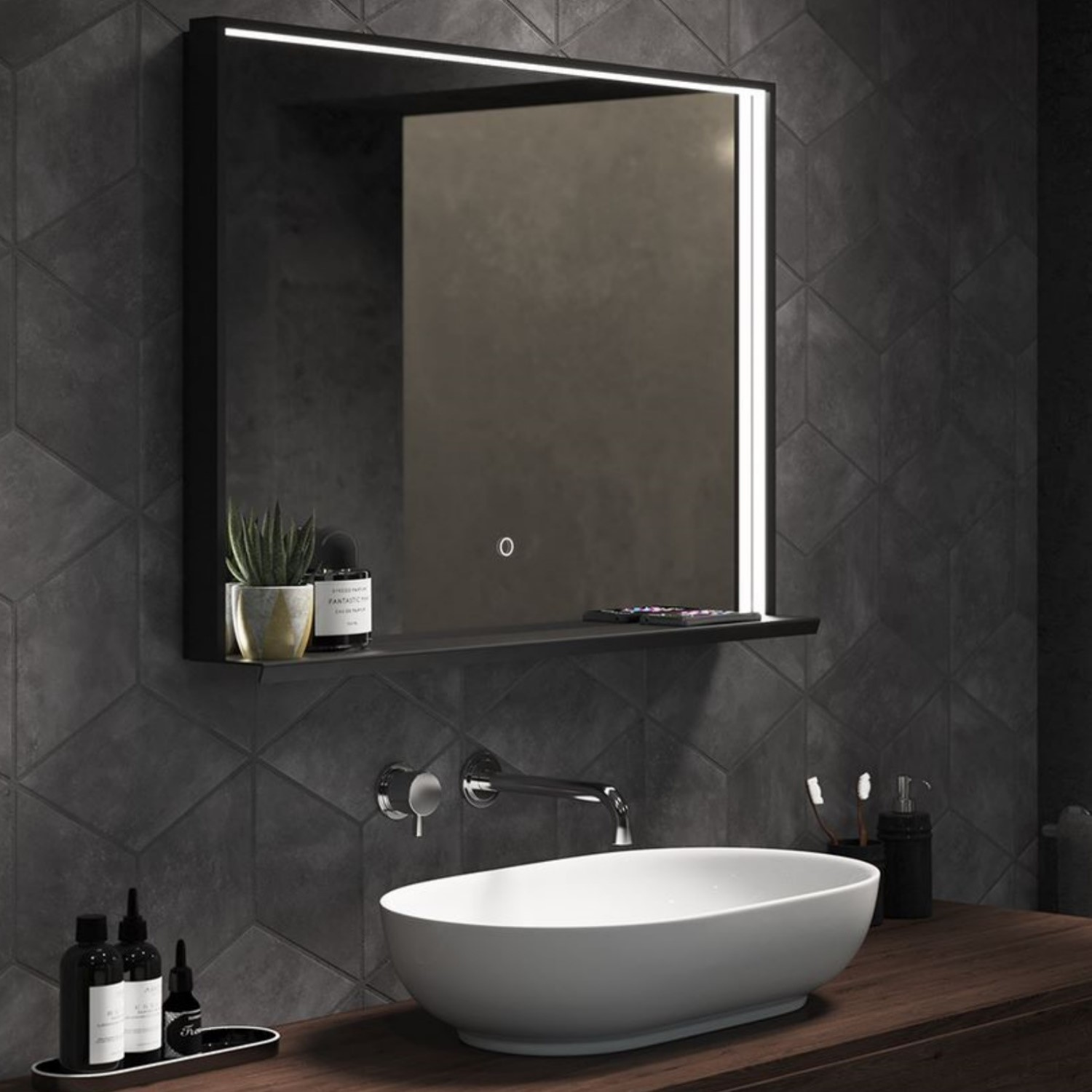 Sensio Element Triotone Illuminated Charging Bathroom Mirror 800 X 600mm Better Bathrooms