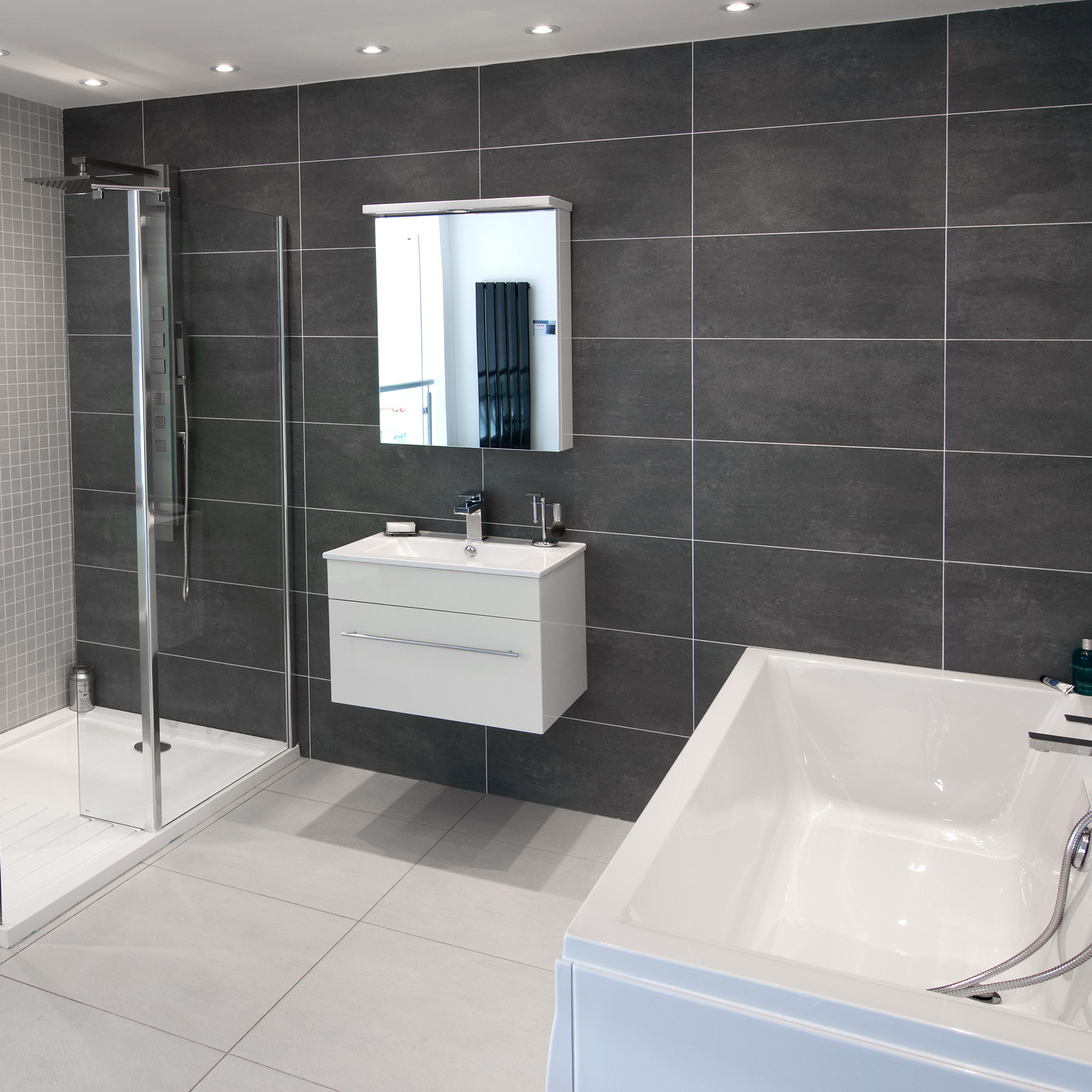 Grey Floor Tiles Bathroom Cementi Dark Grey Porcelain Wall Floor Tile