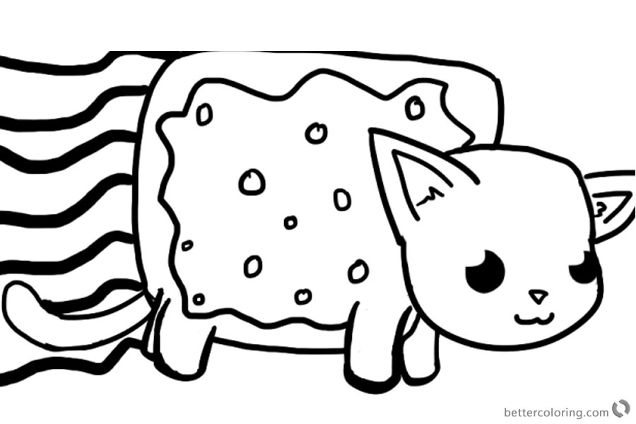 Nyan Cat Coloring Pages - Car-essay