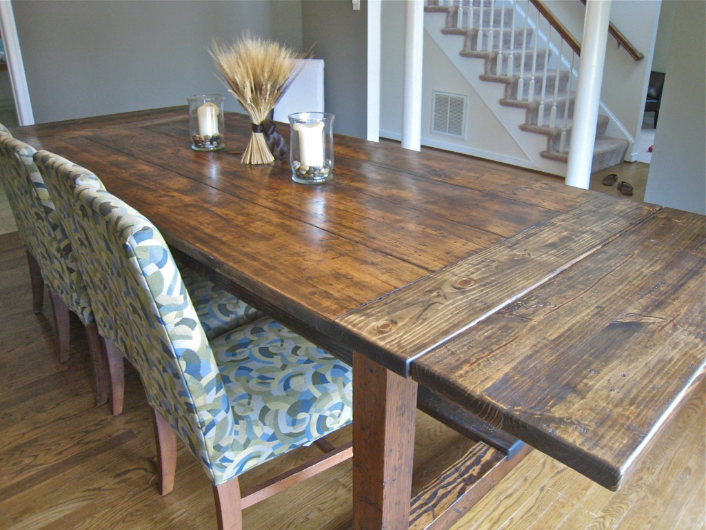 Building A Dining Room Table With Leaves Pdf Plans Rustic Dining Table Plans Download Pull Out
