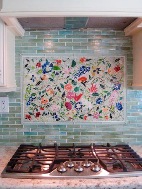 mosaic tile designs kitchens buyxbox wonderful mosaic kitchen backsplashes