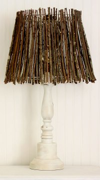 Make This Twig Lampshade For Fall!  Better HouseKeeper