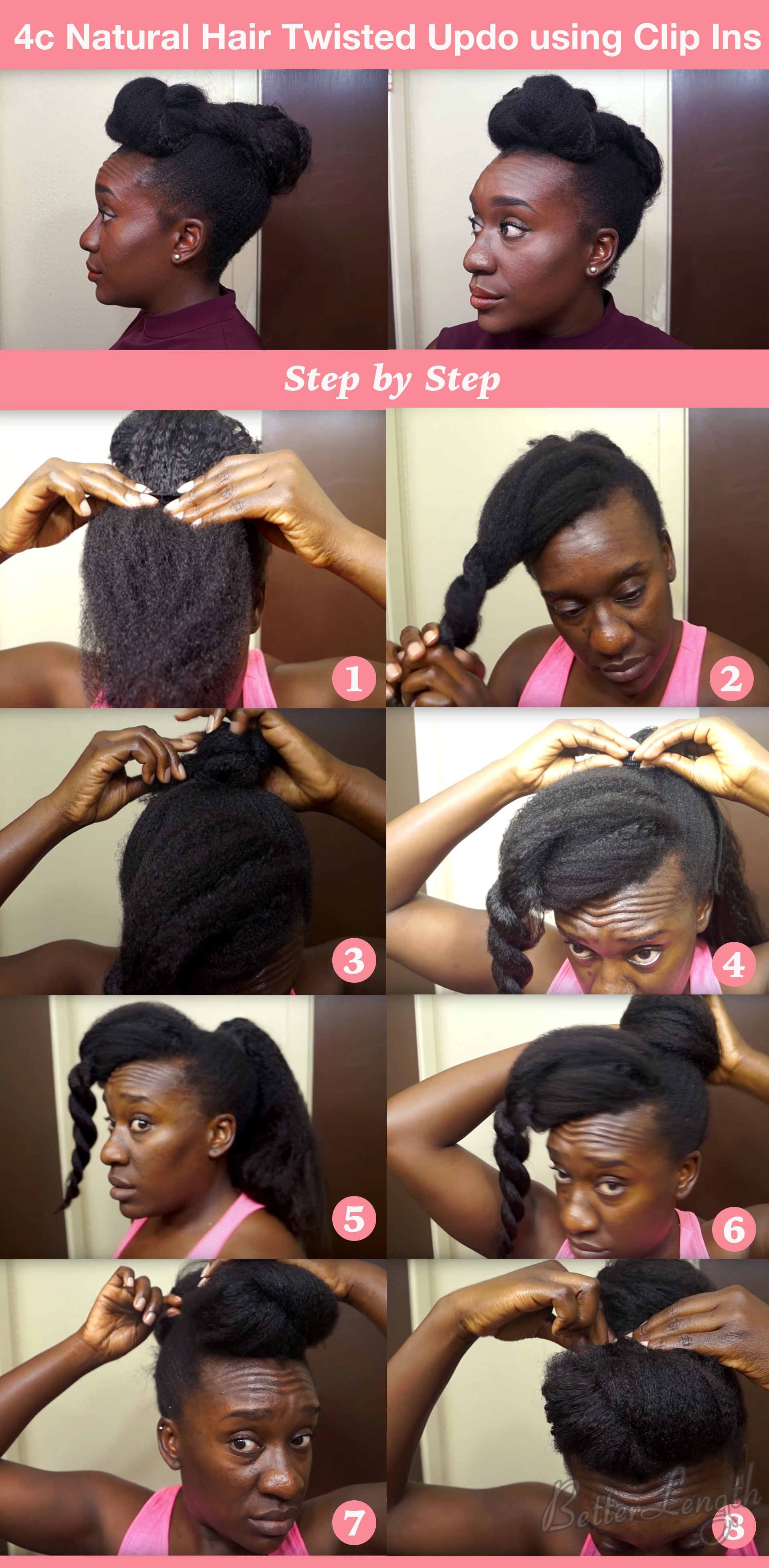 Natural Hair Styles Short Hair 4c Top 6 Quick Easy Natural Hair Updos Betterlength Hair