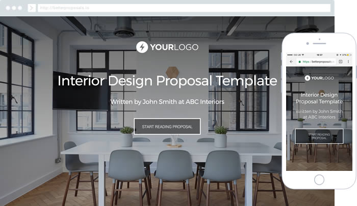 Free Estate Agent Proposal Template - Better Proposals - interior design proposal template