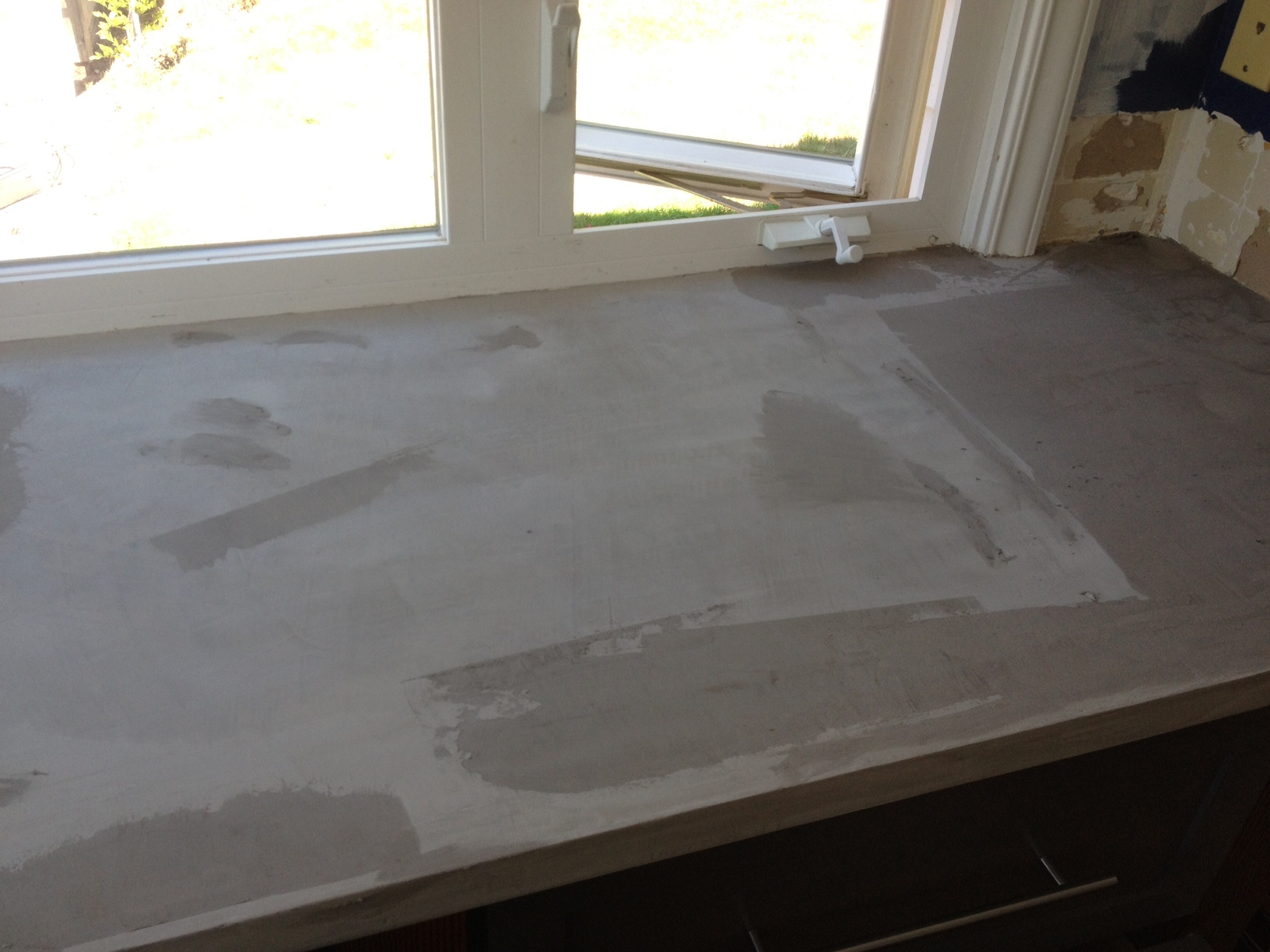 Finished Concrete Countertops Kitchen Diy Concrete Countertop Better Remade