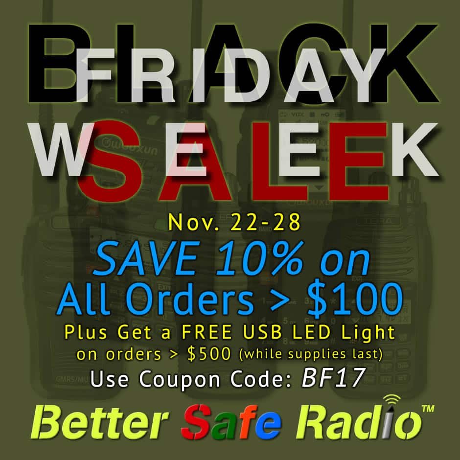 Black Week Sale Black Friday Sale Week Save 10 On All Two Way Radio Gear