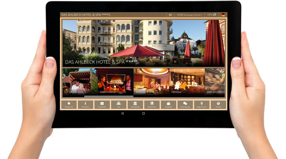 Der Tablet Digital Guest Directory Iq Tab For Hotels Betterspace