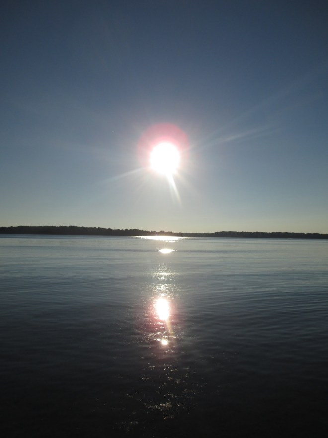 Sun Reflecting on Lake