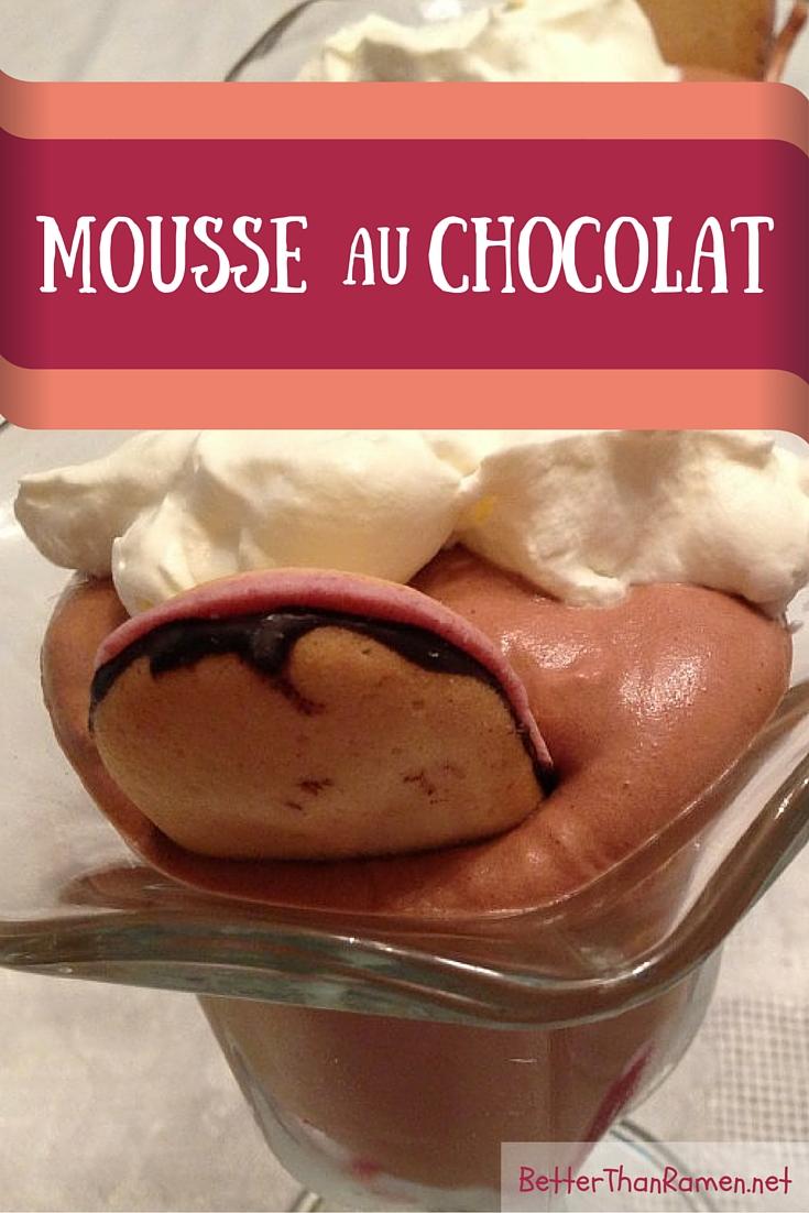 mousse au chocolat recipe