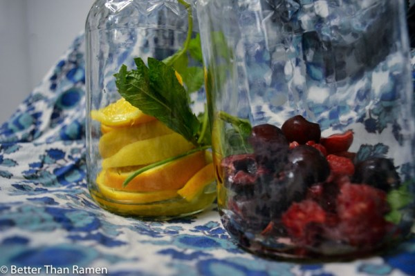 Fruit Infused Water Recipe via BetterThanRamen.net