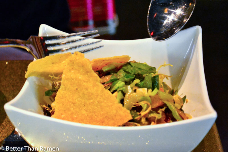 distrito university city tasting menu review chilango chopped salad