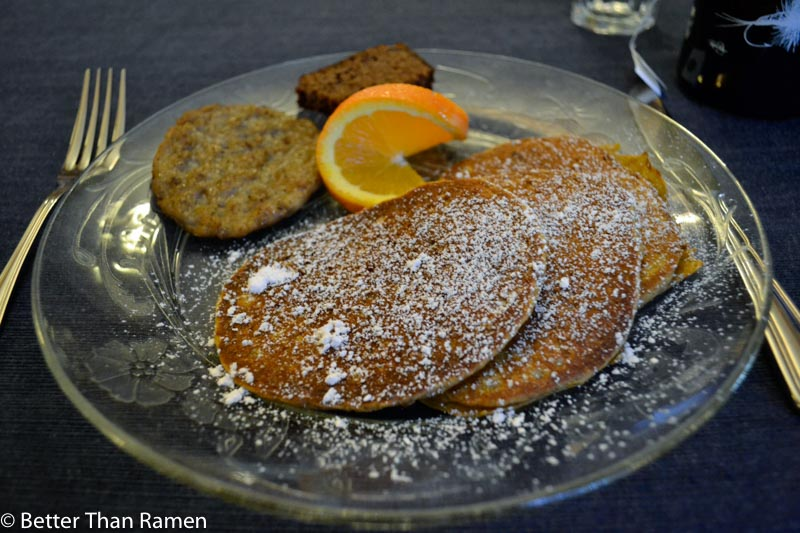 anglers inn harpers ferry breakfast review pumpkin pancakes sausage