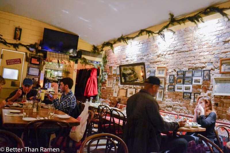 kafana serbian restaurant new york review interior