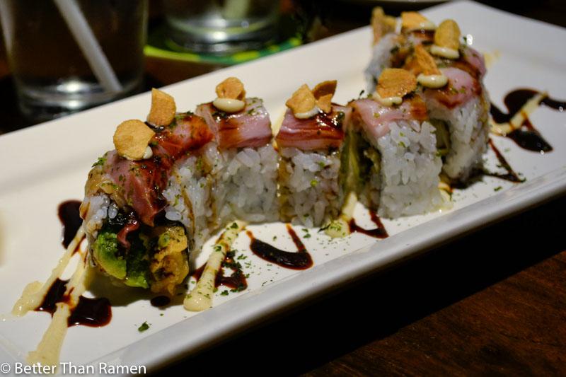 doraku sushi waikiki review geisha roll