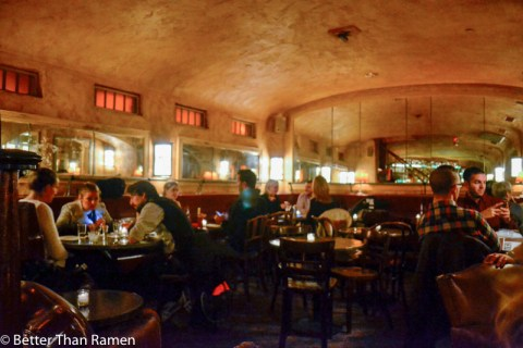 pravda new york dinner review soviet speakeasy interior