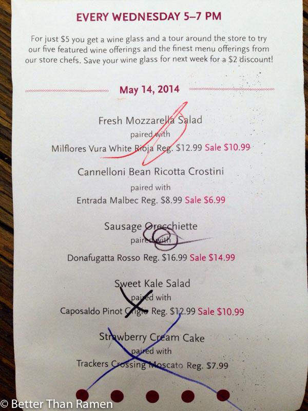 whole foods foggy bottom wine down wednesday happy hour menu