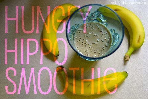 Hungry Hippo Smoothie Recipe via BetterThanRamen.net