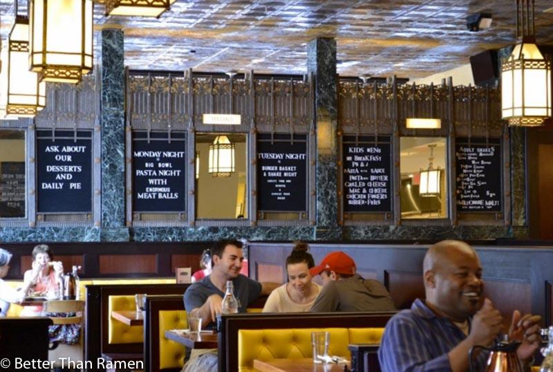 teds bulletin 14th street brunch review interior art deco