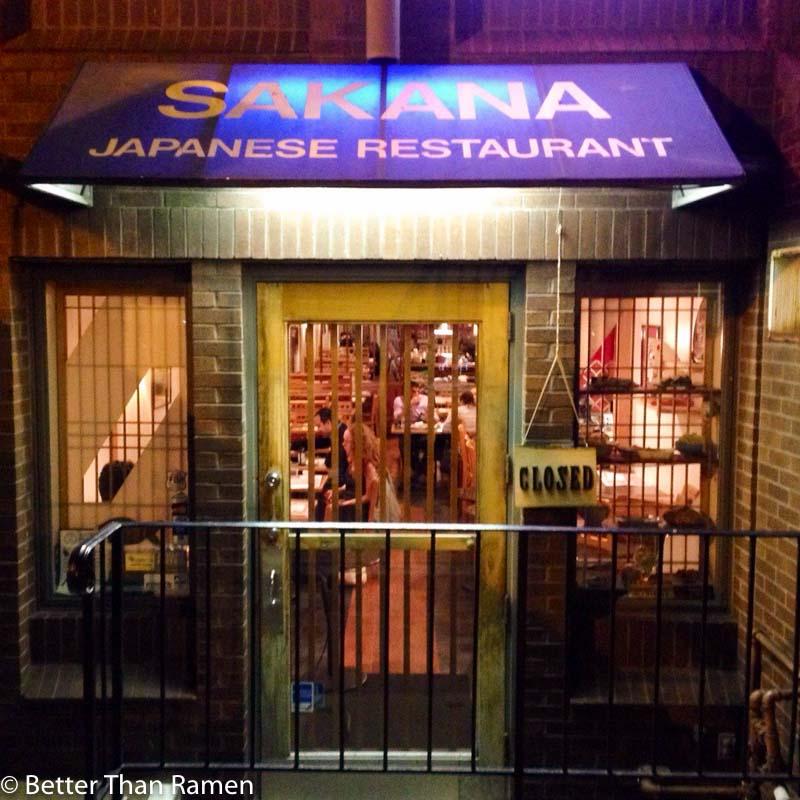 sakana dc review exterior sushi dupont circle