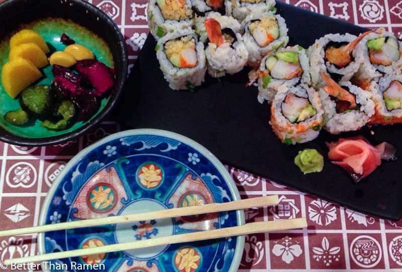 sakana dc review sushi japanese pickles crunchy california roll sushi dupont circle
