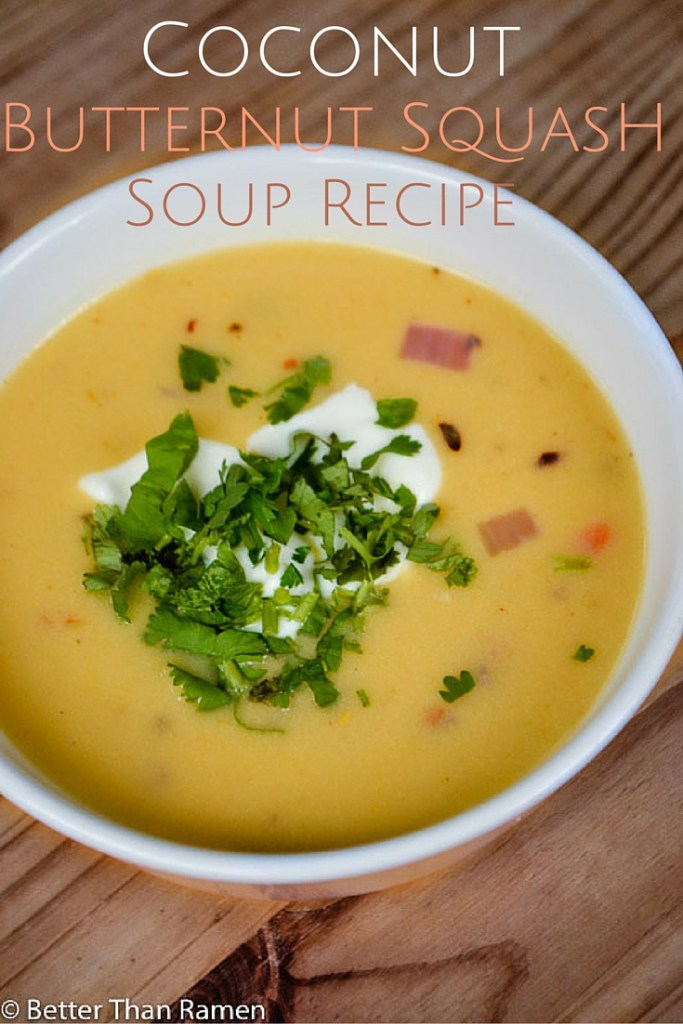 coconut butternut squash soup recipe