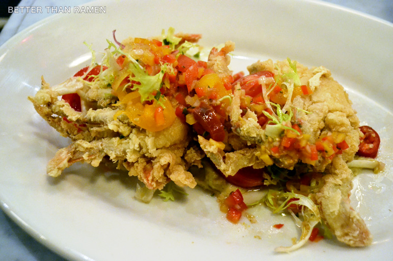 oyster bah crispy soft shell crabs oyster bah blogger review