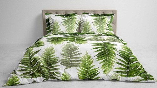 Hnl Living Bettwaesche Mala Pure Green 135 X 200 Cm