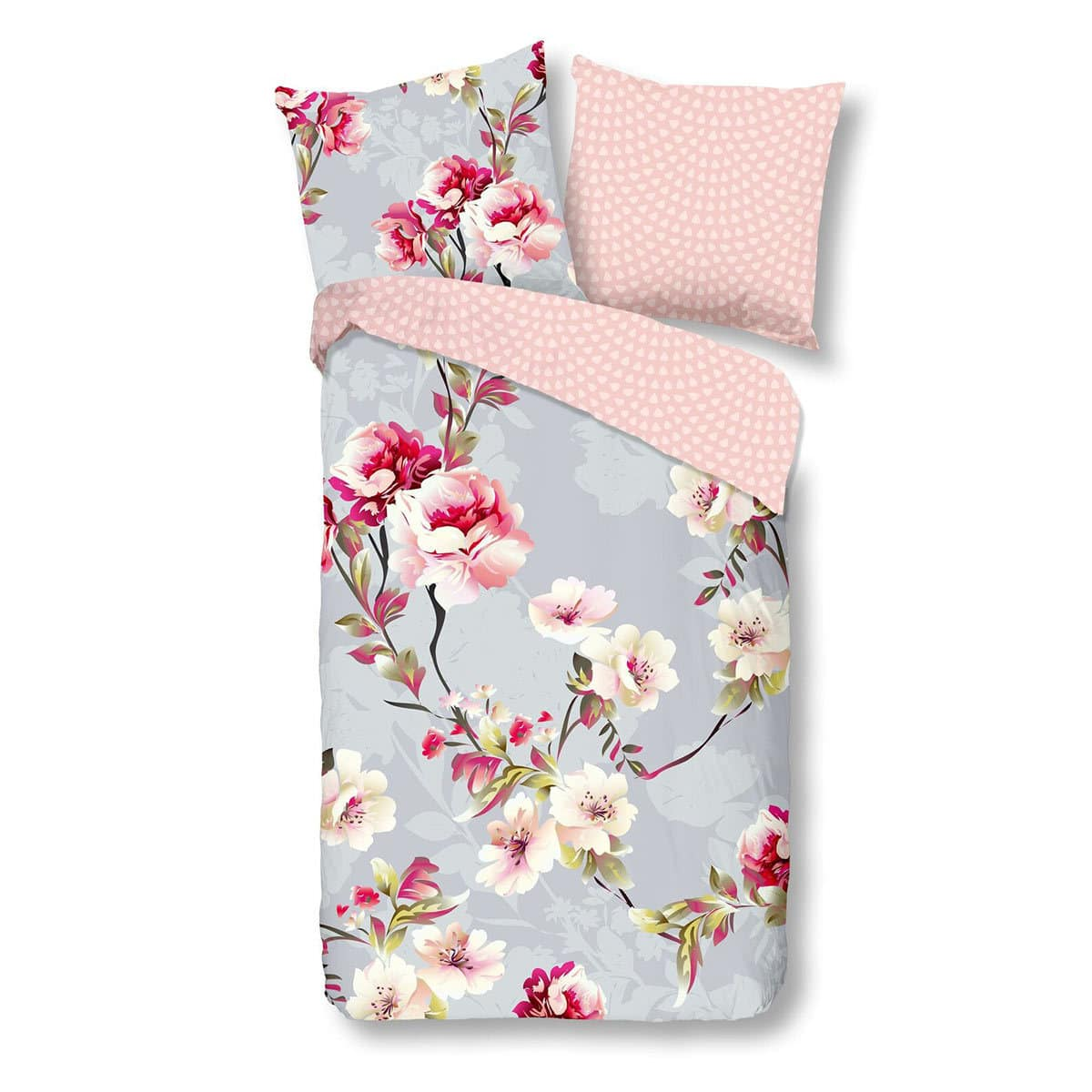 Renforce Bettwäsche Mit Polyester Good Morning Renforce Bettwäsche Blume Grey