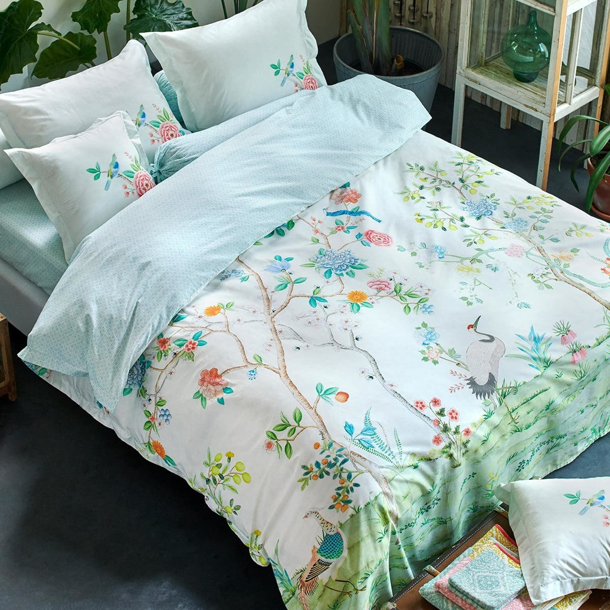 Bedding Pip Studio Perkal Bettwäsche Floral Fantasy Red Romantik Blumen Blüten Design Home Furniture Diy New Times Bg