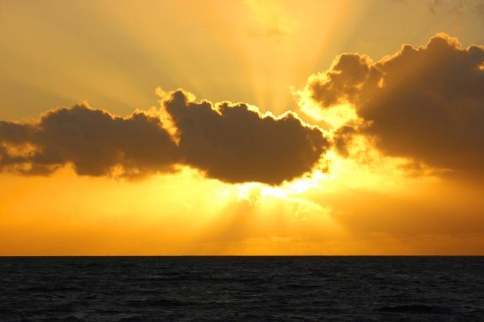 Maui sunset from Island Rhythms cruise.