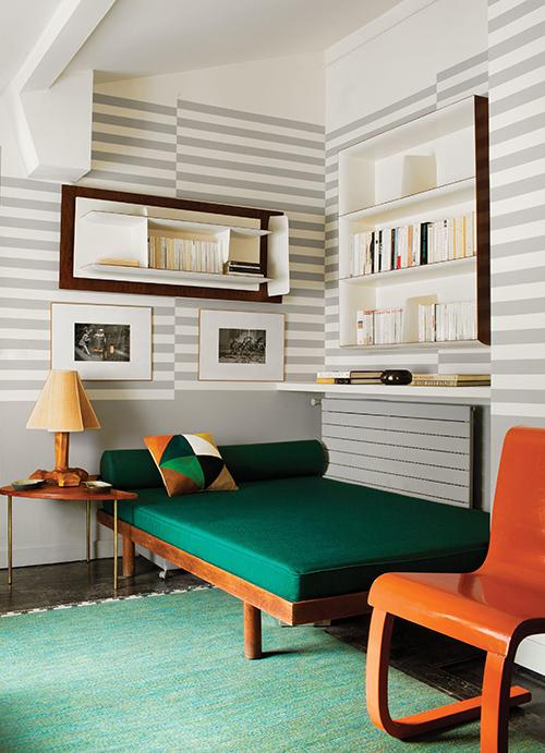 調色盤一樣的家,巴黎古物多彩公寓-5