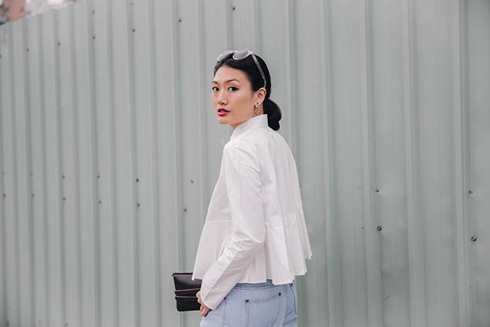 職場女性上班穿搭 寬褲 寬褲穿搭 襯衫穿搭